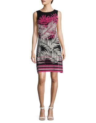 Tropical-Print Jersey Sheath Dress by Tommy Hilfiger