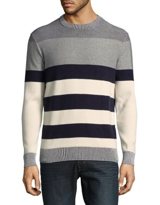 Cotton Linear Sweater...
