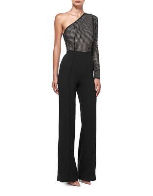 Asymmetric Sequin Jumpsuit by Misha Collection
