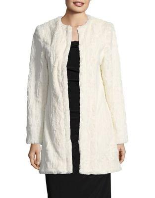 Faux Fur Open Jacket by Paper Crown