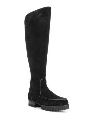 Eva Suede Knee-High Boots...