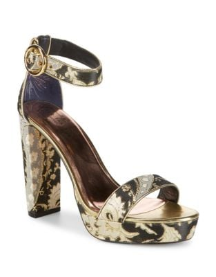 Jewell Metallic Ankle-Strap Sandals by Ted Baker London