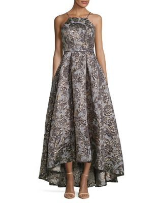 Radiant Floral Halter Gown by Betsy & Adam