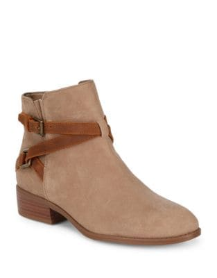 Buckled Suede Booties by Lauren Ralph Lauren