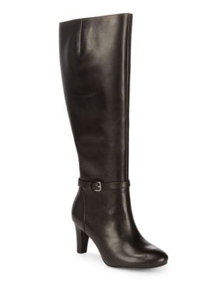 Leather Knee-High Boots by Lauren Ralph Lauren