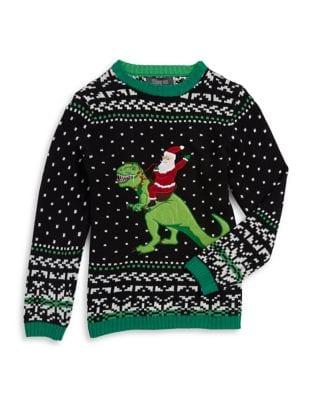 Boy's Santa Riding T-Rex...