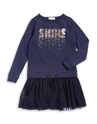 Girls Star Sweater Dress