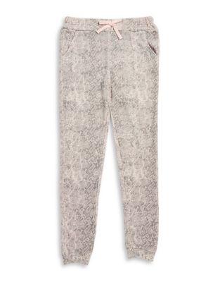 Girls PythonPrint Jogger Pants
