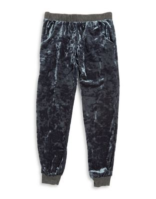 Girls Elasticized Velvet Pants