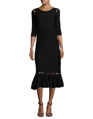 Cutout Flared Dress by Nic+Zoe