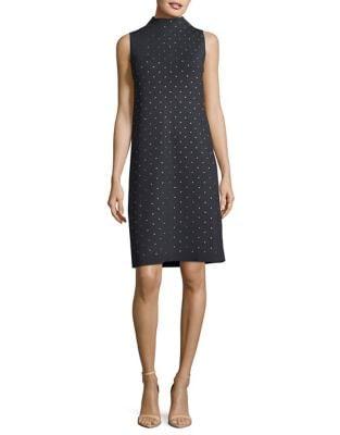 Embellished Sleeveless Shift Dress by Nic+Zoe