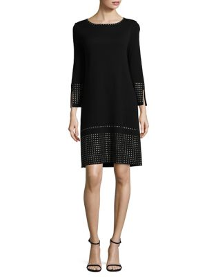 Embellished Long-Sleeve Shift Dress by Nic+Zoe