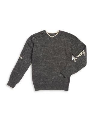 Boy's Marled Cotton Sweater...