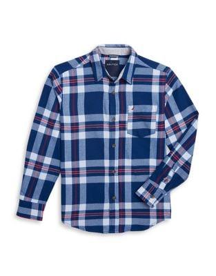 Boys Plaid ButtonDown Shirt