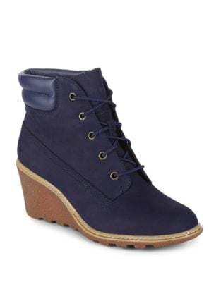 Amston Leather Wedge Booties by Timberland