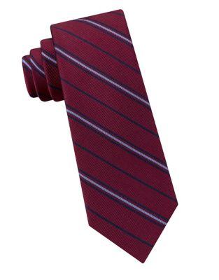 Boys Racing Stripe Silk Tie