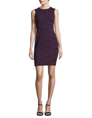 Petite Jacquard Bodycon Dress by Calvin Klein