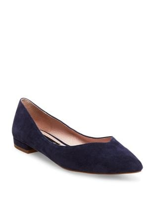 Lavender Suede Point Toe Flats by Steven by Steve Madden