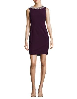 Petite Pearl Necklace Bodycon Dress by Calvin Klein