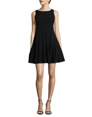 Petite Sleeveless Fit-and-Flare Dress by Calvin Klein