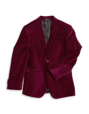 Boys Velvet ButtonFront Jacket