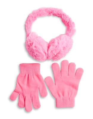 Girls TwoPiece Earmuff and Gloves Set