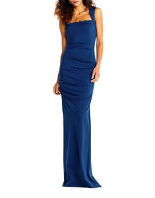 Jersey Sleeveless Column Gown 500087650595