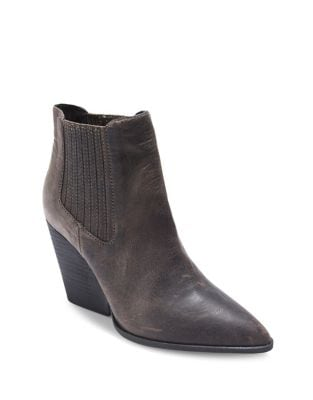 Mason Leather Wedge Booties by Me Too