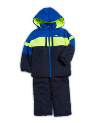 Little Boys TwoPiece Colorblock Jacket and Overalls Set