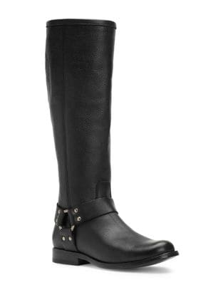 Phillip Harness Leather Knee-High Boots by Frye