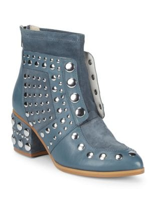 Studded Leather Booties by Cecelia New York