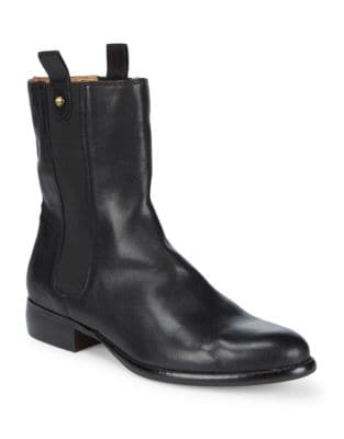 Classic Leather Ankle Boots by Corso Como