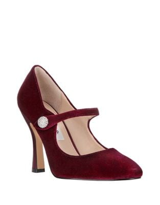 Velvet Mary Jane Pumps by Nina