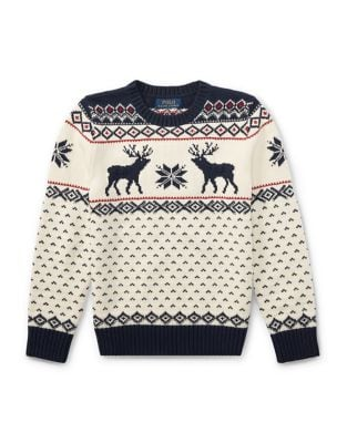 Toddlers Little Boys  Boys Reindeer Knit Sweater
