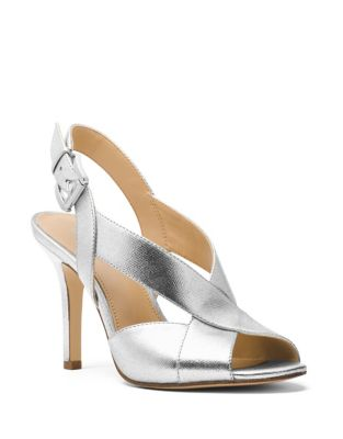 Becky Metallic Leather Slingback Pumps by MICHAEL MICHAEL KORS