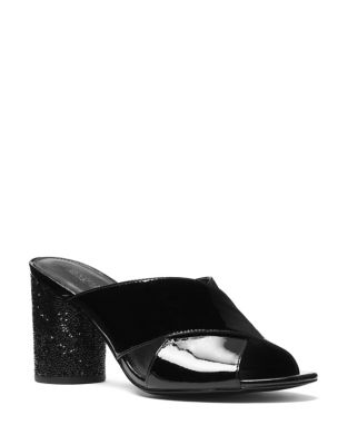 Cher Patent Leather Criss-Cross Mules by MICHAEL MICHAEL KORS