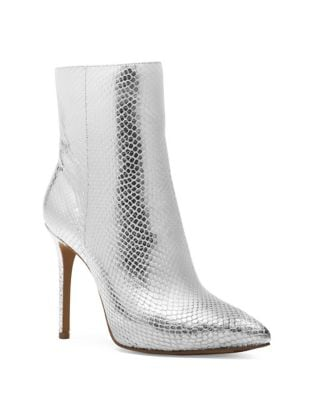 Leona Metallic Snake Print Leather Booties by MICHAEL MICHAEL KORS