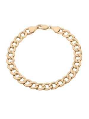 14K Yellow Gold Curb Link Bracelet 500087655304