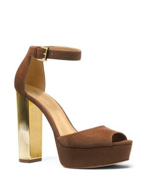 Paloma Suede Platform Dress Sandals by MICHAEL MICHAEL KORS