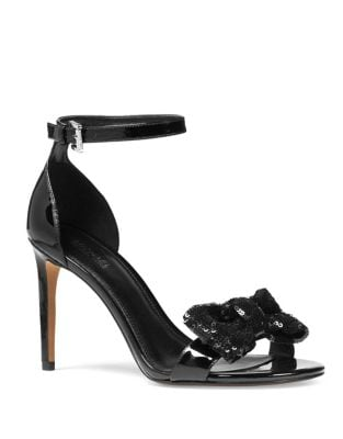 Paris Patent Leather Ankle Strap Sandals by MICHAEL MICHAEL KORS