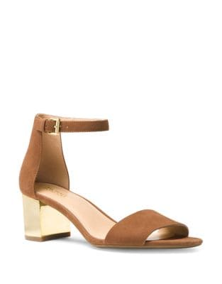 Paloma Suede Ankle Strap Sandals by MICHAEL MICHAEL KORS