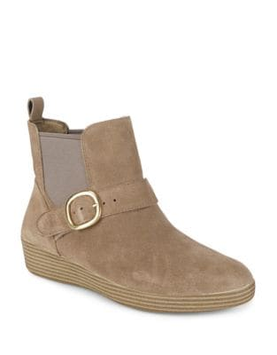 Slip-On Suede Booties by FitFlop