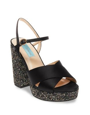 Ollie Satin Platform Sandals by Betsey Johnson