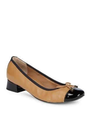 Leather Cap Toe Heels by Vionic