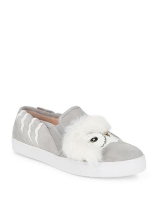 Lefferts Faux Fur-Trimmed Suede Sneakers by Kate Spade New York
