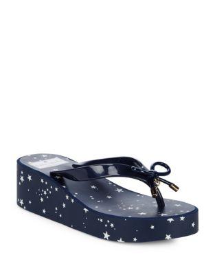 Rhett Star-Print Platform Sandals by Kate Spade New York