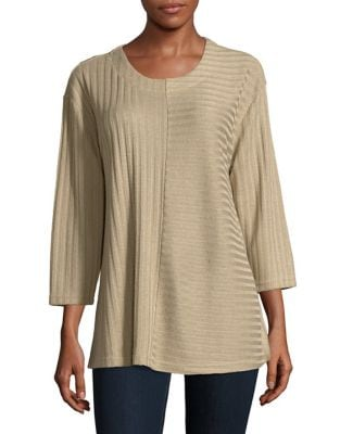 Ribbed Roundneck Sweater...