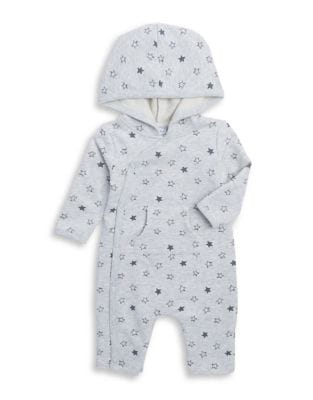 Baby Boys Star Hooded Coveralls
