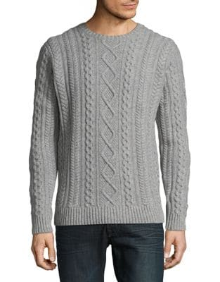 Cable-Knit Wool Sweater...