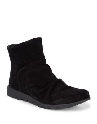 Photo of Scrunchie Suede Booties by The Flexx - shop The Flexx shoes sales